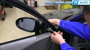 nissan acura 2004 how to install replace remove side rear view mirror 2002 06 nissan