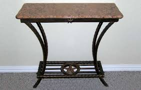 wrought iron table base for granite granite top end tables pertaining to iron idea 3 shellecaldwell com