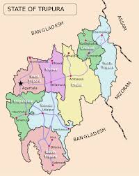 Map Of The States And Capitals by List Of Districts Of Tripura Wikipedia