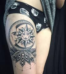 image result for sun and moon tattoos moon