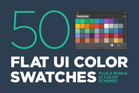 50 S Color Scheme by 50 Flat Ui Color Swatches Palettes Creative Market