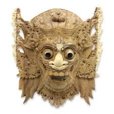 wall masks balinese hindu decorative wood wall mask from bali sang jogor