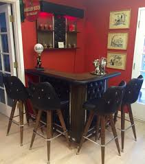 Gothic Dining Room Table by Vintage 1960s Spanish Gothic Revival Carved Wood Home Rec Room Bar
