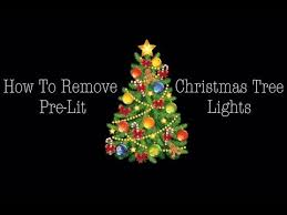 remove lights from pre lit tree removing lights of a pre lit tree youtube