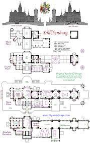 french chateau floor plans baby nursery modern castle house plans drachenburg castillo piso
