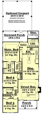 Floor Plans With Basement by 1300 Square Foot House Plan 3 Bedroom 2 Bath Add Basement