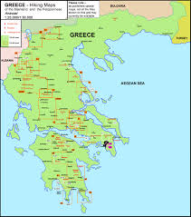 Map Of Greece by Greece Anavasi Hiking Maps Of The Mainland And Peloponnese