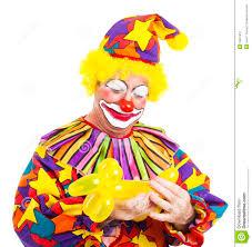 clown balloon clown makes balloon animal stock image image 16931831