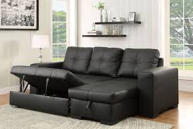 Grey Leather Reclining Sofa by Denton Contemporary Style Black Leatherette Sofa Sectional W Pull