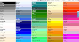 named colors html dessincoloriage