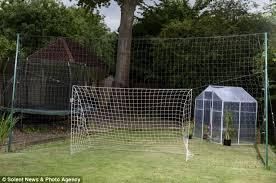 Best Soccer Goals For Backyard Father Invents Massive Net Behind A Goal To Catch Wayward Balls