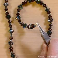 beaded necklace clasps images Learn to make jewelry beautiful easy beaded necklace running jpg