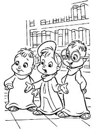 kids fun 26 coloring pages alvin chipmunks