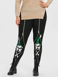 Jamaican Flag Leggings 2018 Wear Glasses Christmas Cat Printed Plus Size Leggings Black