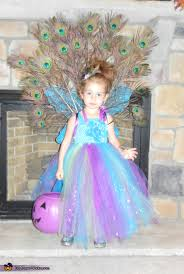 Peacock Halloween Costume Girls Homemade Peacock Costume Girls