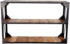 Industrial Console Table Buy Indian Hub Ascot Industrial Console Table Cfs Uk