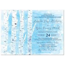 Navy Blue Wedding Invitations Winter Birch Tree Wedding Invitation Navy Blue White