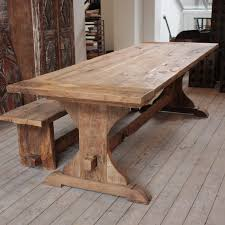 Dining Tables Farmhouse Kitchen Table Sets Industrial Reclaimed by Elegant Rustic Kitchen Tables For Sale Chesterton Plank Top