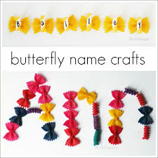 name activities with a butterfly craft