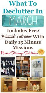 How To Declutter Basement March Declutter Calendar 15 Minute Daily Missions For Month
