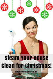 steam your house clean for christmas stay at home mum
