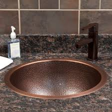 Silver Bathroom Sink Bathrooms Hammered Copper Sink Signature Hardware 15
