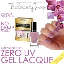the beauty snoop ditch the uv loreal gel lacque in radiant orchid
