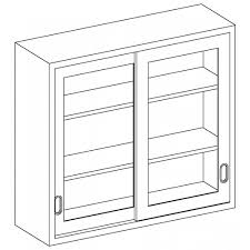 sliding door wall cabinet stainless steel wall cabinet with glazed sliding doors by blickman