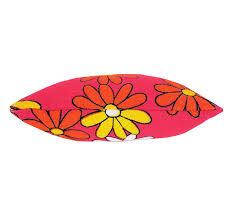 ribbon trim tooth fairy pillow bright pink print fabric yellow ribbon