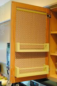 Kitchen Organization Ideas For The Inside Of The Cabinet Doors - Kitchen cabinet door storage racks