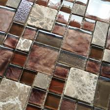 Burgundy Red Glass Mosaic Wall Tile Stone Mosaic Kitchen - Stone glass mosaic tile backsplash