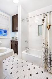 Bathtub Grout Snow White Grout Bathroom Transitional With Black And White Tile