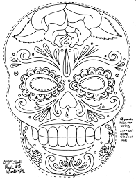 16 images of day of the dead sugar skull coloring pages printable