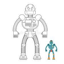 robot coloring book cyborg technological machine humanoid ma