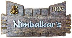 Wooden Door Name Plates Brilliant Name Plate Designs For Home - Designer name plates for homes