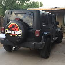 jurassic world jeep park tire cover