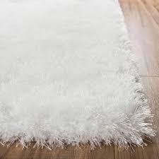 White Shaggy Rugs Liza White Plush Shag Rug Well Woven