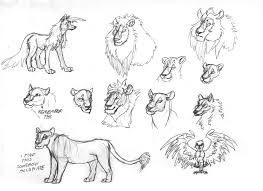 lion study sketches by wolframclaws on deviantart
