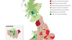 Map Of Britian Brexit Vote Pits London Scotland Against Middle England