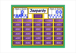 7 blank jeopardy templates free sample example format