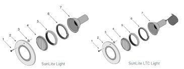 amerlite pool light parts sta rite sunlite and sunlite ltc light parts