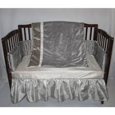 amazon com velvet crocodile crib bedding color silver baby