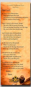 a cowboy s thanksgiving prayer f m light sons