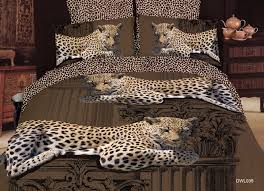 Leopard Bed Set Leopard Print Bedding Sets White Bed