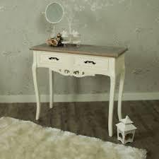 chambre shabby 2 tiroirs table console décoré peint coiffeuse shabby chic chambre