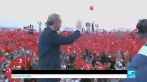 Mass Flag Turkey Erdogan Stages Mass Flag Waving Rally In Response To Coup