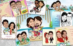 caricature wedding cards tinatoons