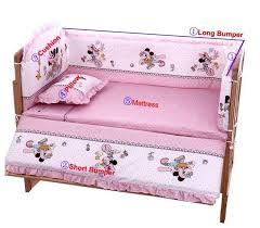 Mickey Mouse Baby Bedding 100 60cm Baby Bedding Sets Include Pillow Bumpers Mattress