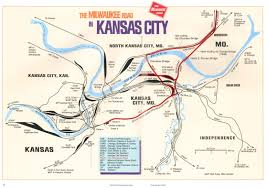 Chicago Railroad Map by Milwaukee Road Kansas City Subdivision