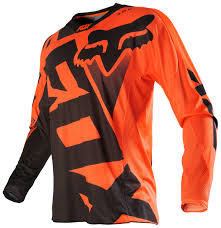 orange motocross gear fox racing 360 shiv jersey revzilla